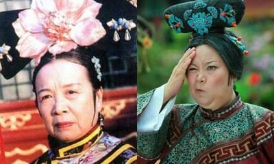 图为《还珠格格》容嬷嬷剧照,她的扮演者是著名演员李明启.这一角