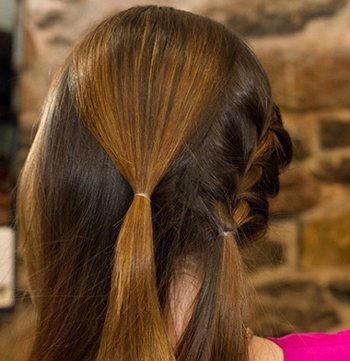 中长直发怎么扎漂亮的发型?3款_发型设计