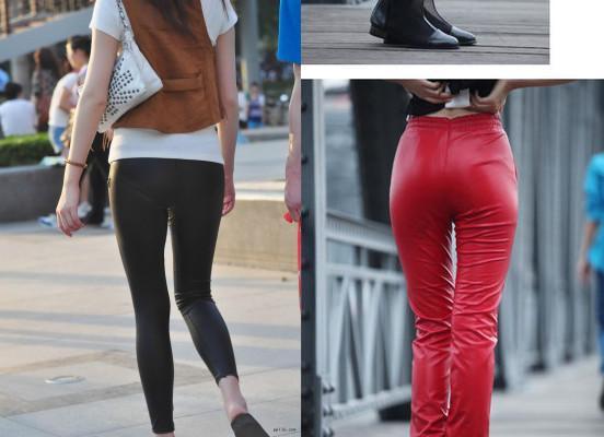 除了邓紫棋,皮裤无论什么季节女人穿上都很显身材